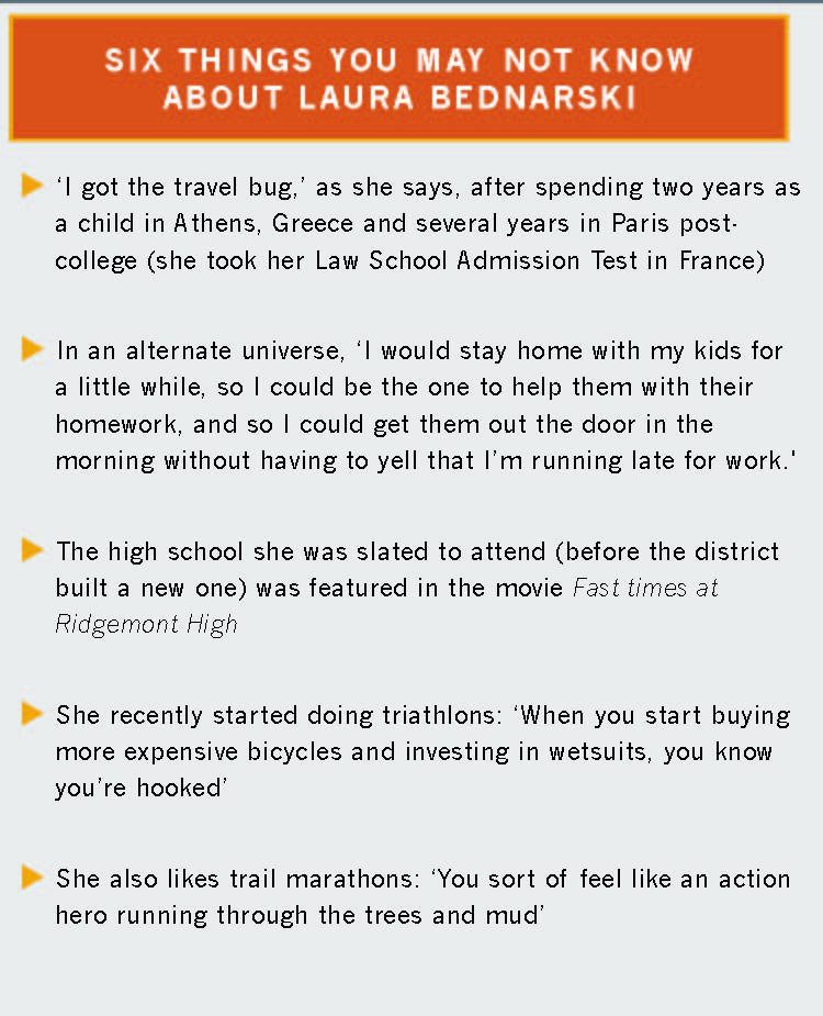Six things you may not know about Laura Bednarski