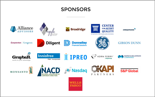 Corporate Governance Awards 2016 sponsors