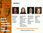 Corporate Secretary Webinar: How to perform meaningful and effective board evaluations
